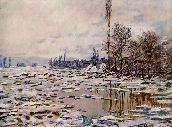 Breakup of the Ice, Lavacourt Oil Painting - Claude Oscar Monet