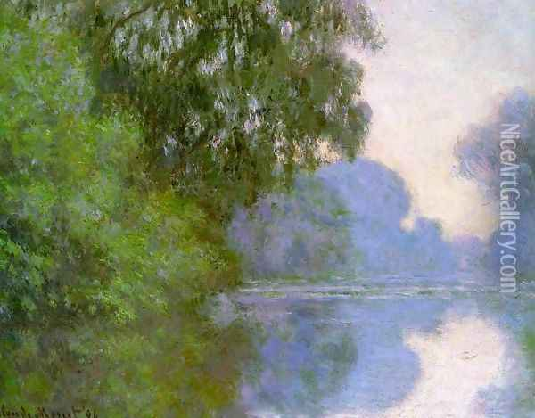 Arm Of The Seine Near Giverny2 Oil Painting - Claude Oscar Monet