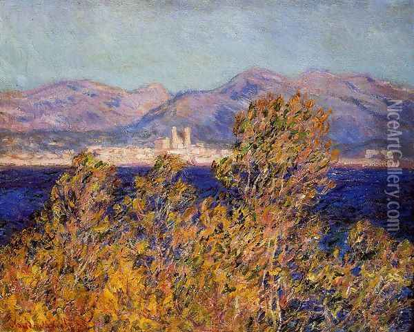 Antibes Seen From The Cape Mistral Wind Oil Painting - Claude Oscar Monet