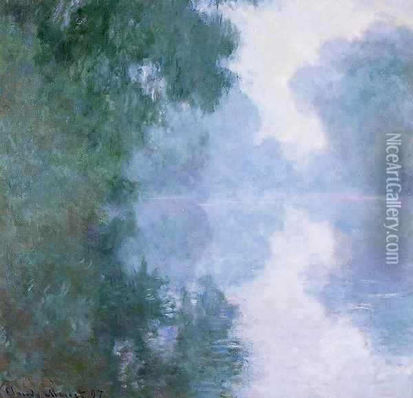 Arm Of The Seine Near Giverny In The Fog2 Oil Painting - Claude Oscar Monet