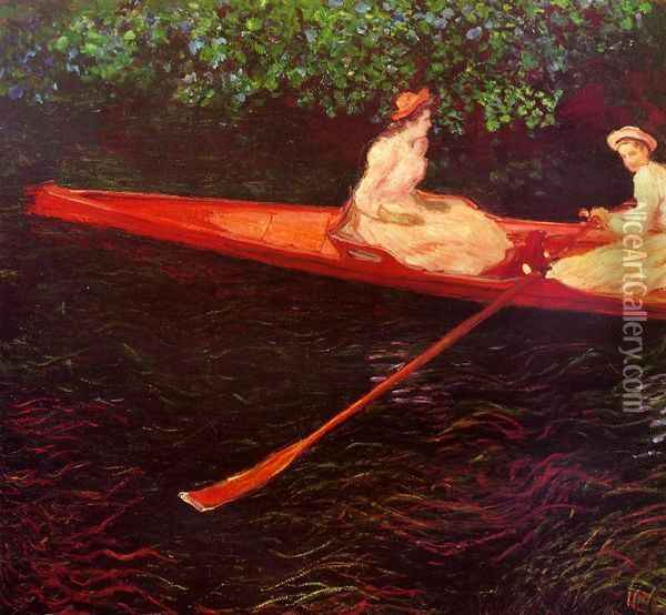 Boating on the River Epte Oil Painting - Claude Oscar Monet