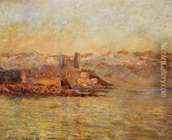 Antibes And The Maritime Alps Oil Painting - Claude Oscar Monet