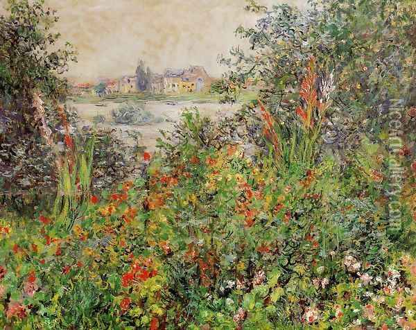 Flowers At Vetheuil Oil Painting - Claude Oscar Monet