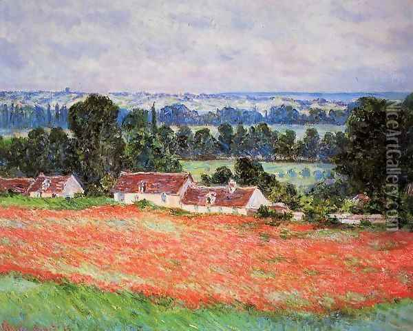 Poppy Field At Giverny Oil Painting - Claude Oscar Monet