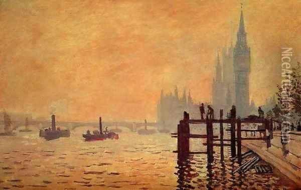 The Thames Below Westminster Oil Painting - Claude Oscar Monet
