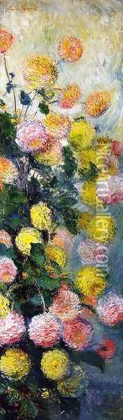 Dahlias2 Oil Painting - Claude Oscar Monet