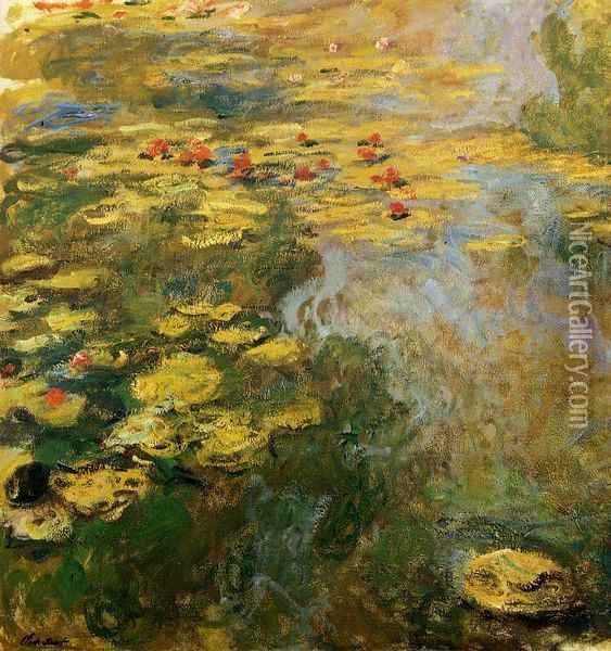 The Water-Lily Pond (left side) Oil Painting - Claude Oscar Monet