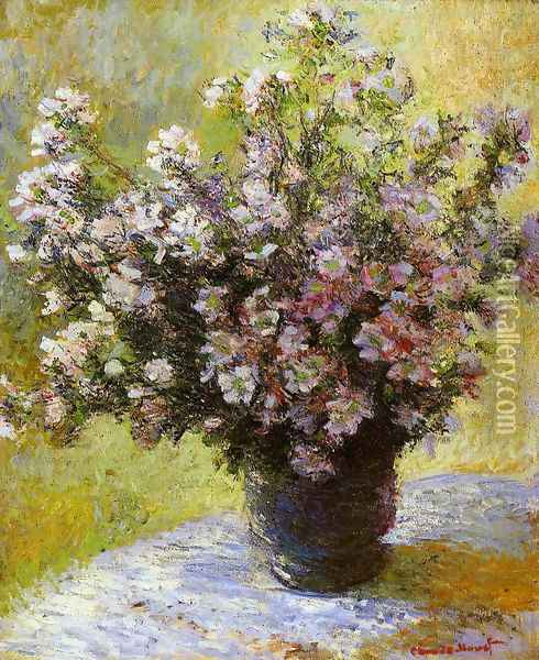 Bouquet of Mallows Oil Painting - Claude Oscar Monet