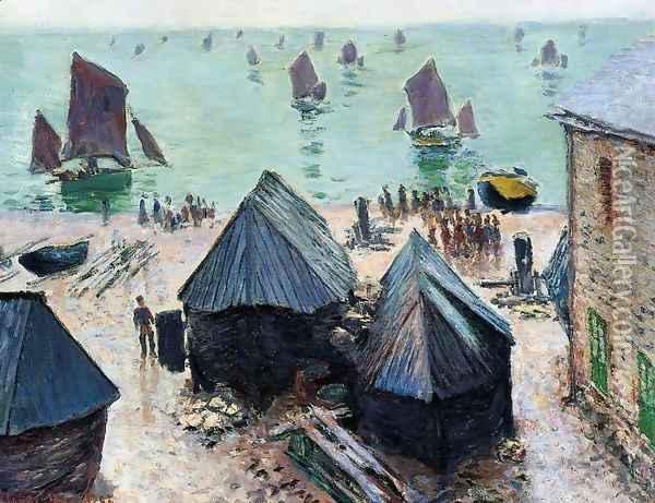 The Departure Of The Boats Etretat Oil Painting - Claude Oscar Monet