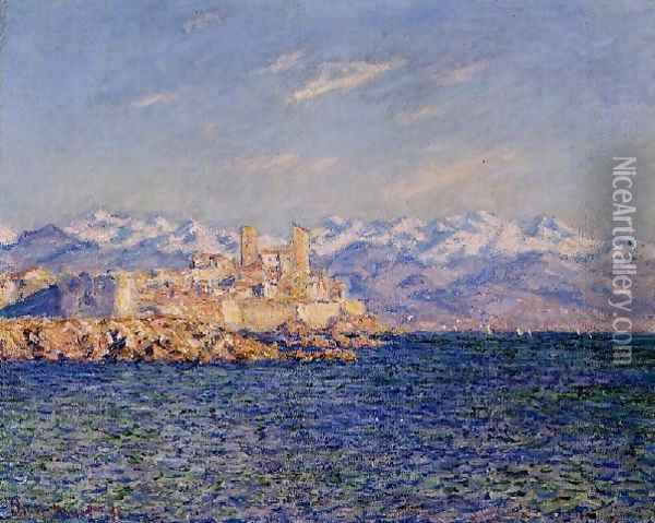 Antibes Afternoon Effect Oil Painting - Claude Oscar Monet