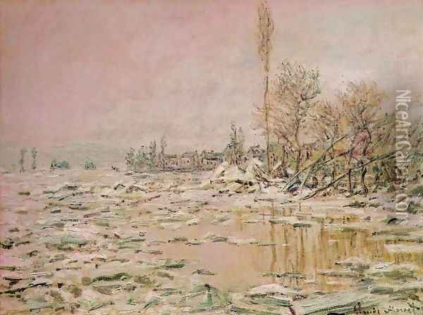 Break-Up of the Ice Oil Painting - Claude Oscar Monet