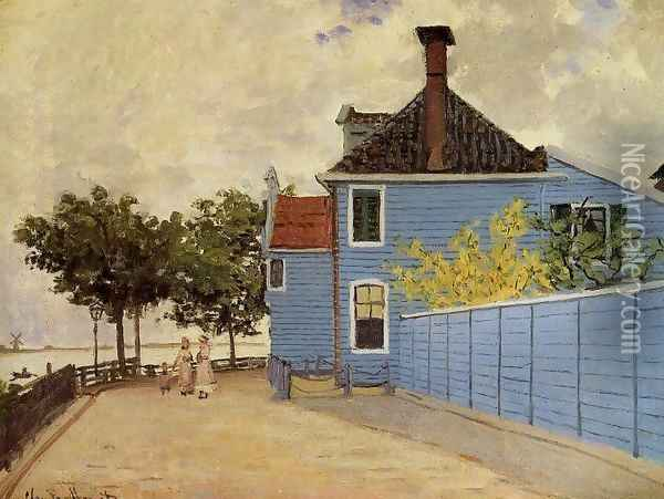 The Blue House At Zaandam Oil Painting - Claude Oscar Monet