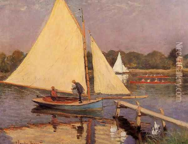 Boaters At Argenteuil Oil Painting - Claude Oscar Monet