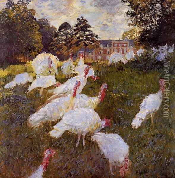 Turkeys Oil Painting - Claude Oscar Monet