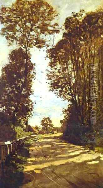 Road To The Saint Simeon Farm Oil Painting - Claude Oscar Monet