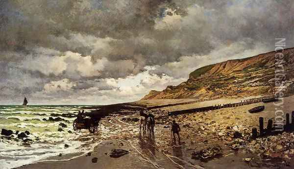 The Pointe De La Heve At Low Tide Oil Painting - Claude Oscar Monet