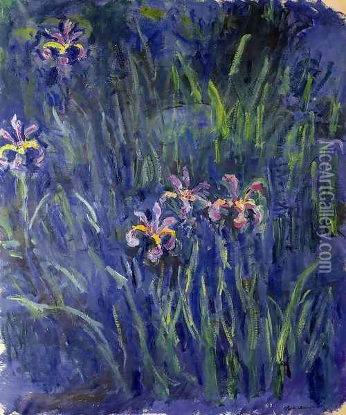 Irises3 Oil Painting - Claude Oscar Monet