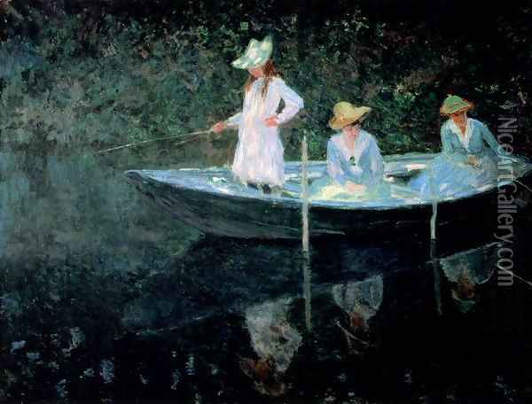 In The Rowing Boat Oil Painting - Claude Oscar Monet