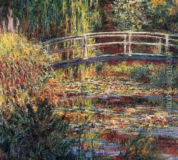 Water Lily Pond Symphony In Rose Oil Painting - Claude Oscar Monet