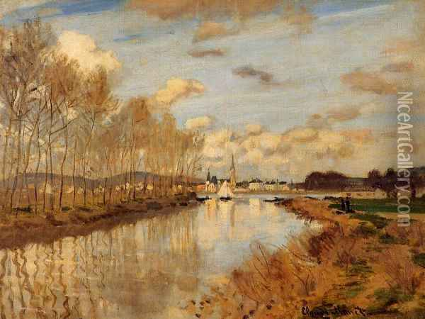 Argenteuil, Seen from the Small Arm of the Seine Oil Painting - Claude Oscar Monet