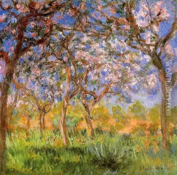 Giverny In Springtime Oil Painting - Claude Oscar Monet