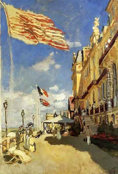 Hotel Des Roches Noires Trouville Oil Painting - Claude Oscar Monet