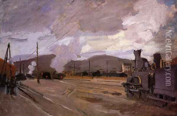 The Railroad Station At Argenteuil Oil Painting - Claude Oscar Monet