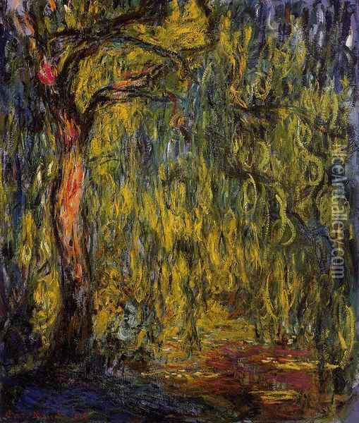 Weeping Willow I Oil Painting - Claude Oscar Monet