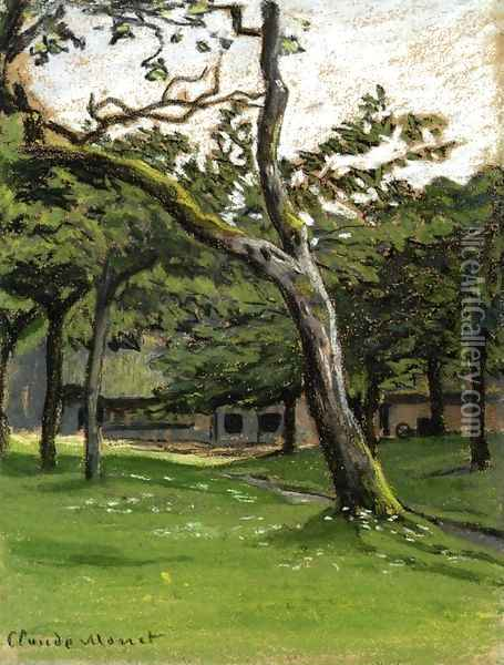 Norman Farm Through The Trees Oil Painting - Claude Oscar Monet