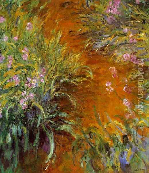 The Path Through The Irises Oil Painting - Claude Oscar Monet