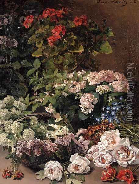 Spring Flowers Oil Painting - Claude Oscar Monet