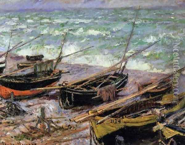 Fishing Boats Oil Painting - Claude Oscar Monet