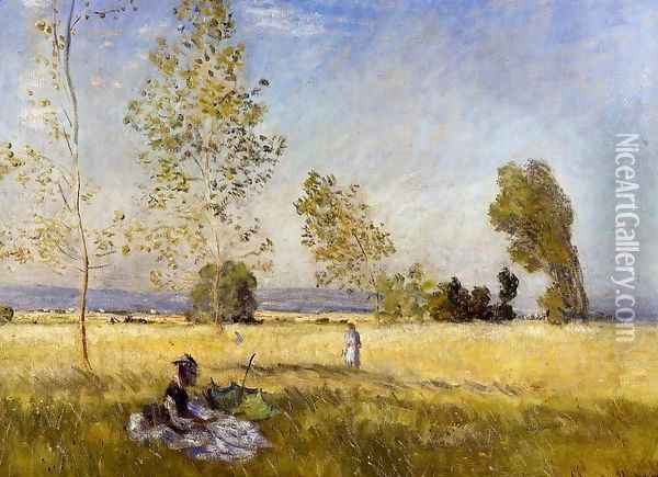 Meadow At Bezons Oil Painting - Claude Oscar Monet