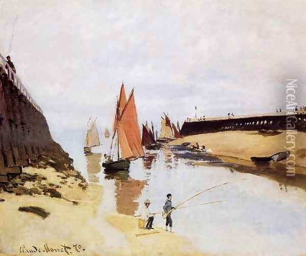 Entrance To The Port Of Trouville Oil Painting - Claude Oscar Monet