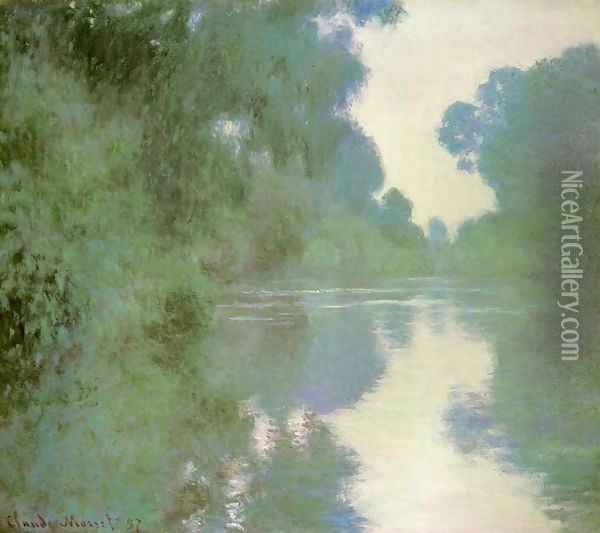 Branch of the Seine near Giverny Oil Painting - Claude Oscar Monet