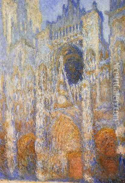 The Portal Of Rouen Cathedral At Midday Oil Painting - Claude Oscar Monet