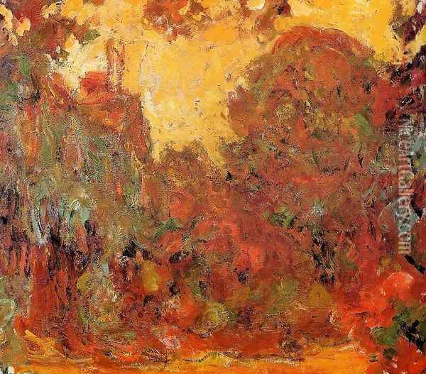 The House Seen From The Rose Garden Oil Painting - Claude Oscar Monet