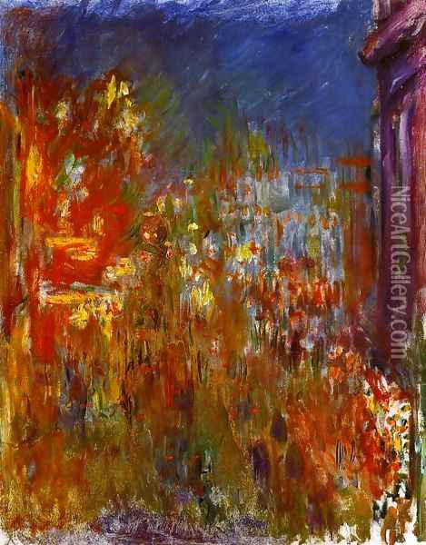 Leicester Square At Night Oil Painting - Claude Oscar Monet