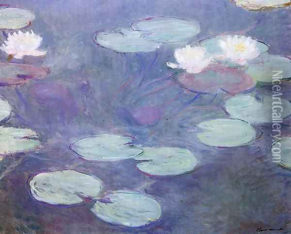 Pink Water Lilies Oil Painting - Claude Oscar Monet