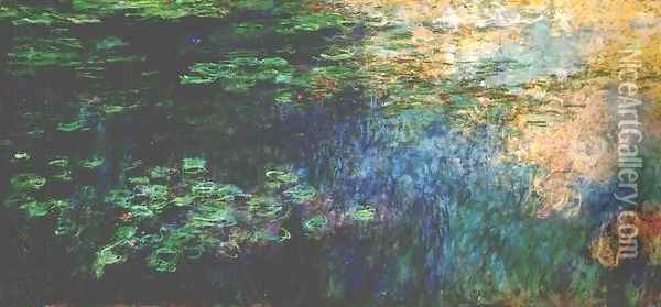 Reflections On The Water Oil Painting - Claude Oscar Monet