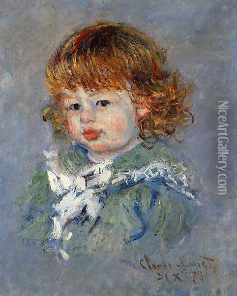 Jean Pierre Hoschede Called Bebe Jean Oil Painting - Claude Oscar Monet