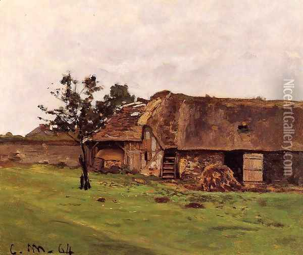 Farm Near Honfleur Oil Painting - Claude Oscar Monet