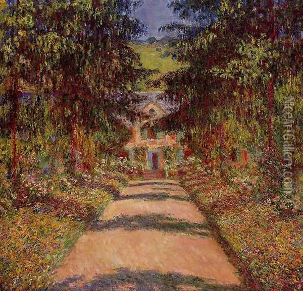 The Main Path At Giverny Oil Painting - Claude Oscar Monet