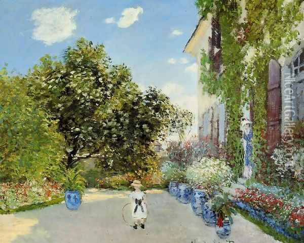 The Artists House At Argenteuil Oil Painting - Claude Oscar Monet