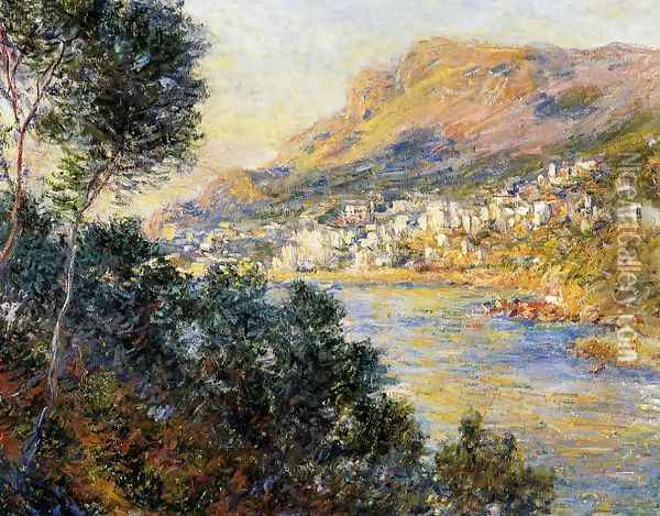 Monte Carlo Seen From Roquebrune Oil Painting - Claude Oscar Monet