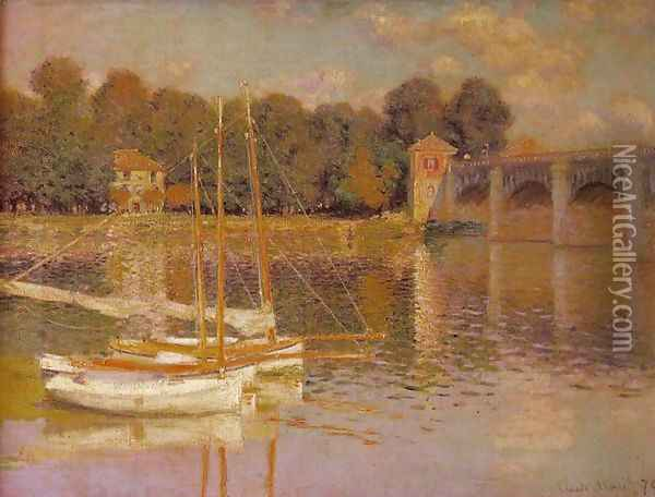 Bridge at Argenteuil Oil Painting - Claude Oscar Monet