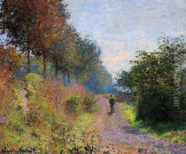 The Sheltered Path Oil Painting - Claude Oscar Monet