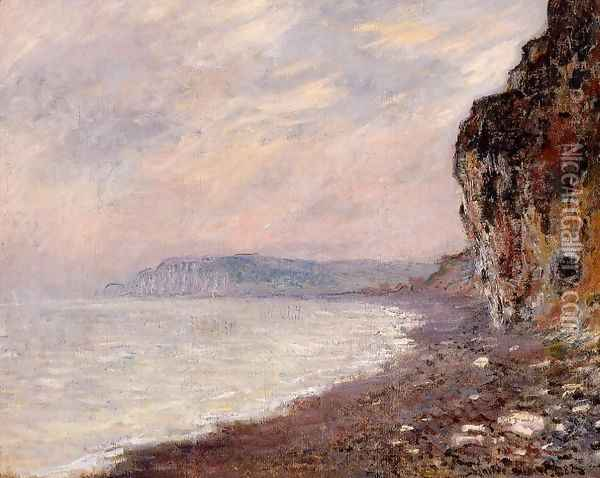 Cliffs At Pourville In The Fog Oil Painting - Claude Oscar Monet