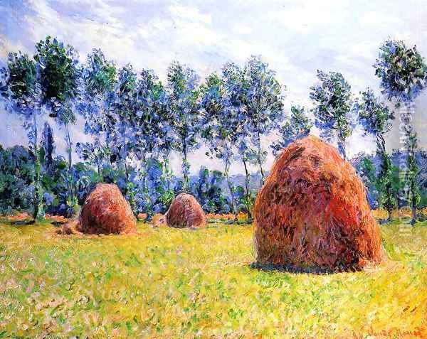 Haystacks At Giverny3 Oil Painting - Claude Oscar Monet