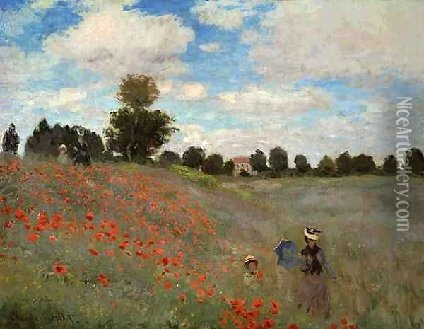 Field of Poppies Oil Painting - Claude Oscar Monet